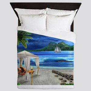 TROPICAL PARADISE Queen Duvet